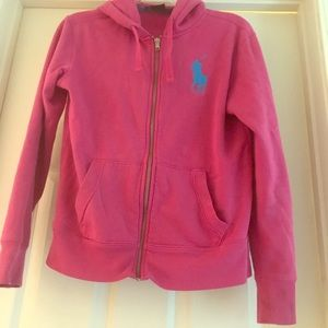 Pink Polo Hoodie